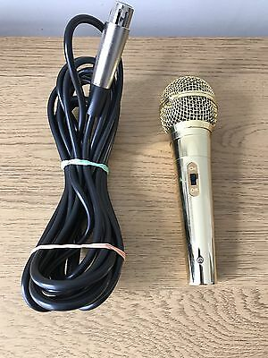 Lucky Voice Karaoke Machine Gold Mic & Lead Only Extra Long Lead Good Condition