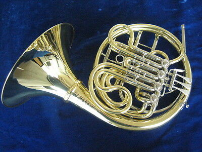NEW ENGELBERT SCHMID DOUBLE FRENCH HORN w/HAND HAMMERED BELL