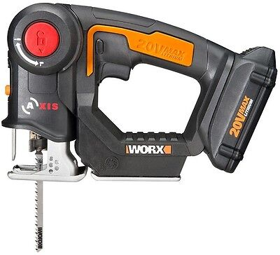 Worx AXIS 20-Volt Lithium-Ion Convertible Jigsaw Reciprocating Saw Cordless Tool