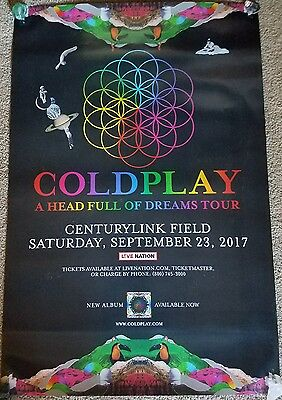"""COLDPLAY 2017 OFFICIAL Tour Poster  24""""x36"""" RARE!"""
