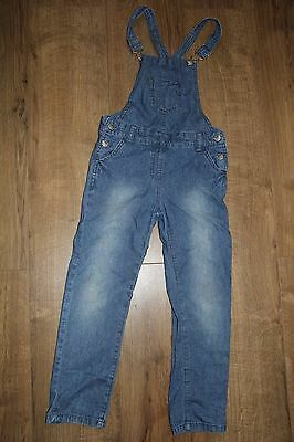 Girls denim dungerees soft jeans  size 5-6 years