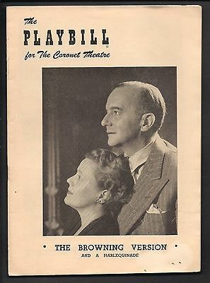 1949 Playbill  The BROWNING VERSION Coronet Theatre Theater Program