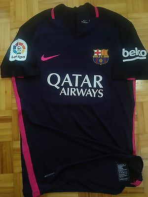 Barcelona Messi Player Issue shirt Match un worn Jersey L Nike Maillot Maglia