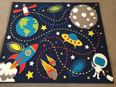 Childrens Space Mission Rug. Nursery, Playroom, Bedroom Etc