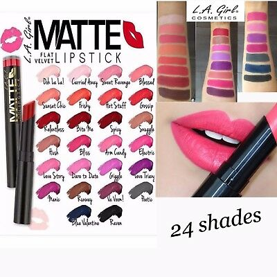 La Girl Flat Matte Velvet Lipstick. Uk Seller , 100% Authentic