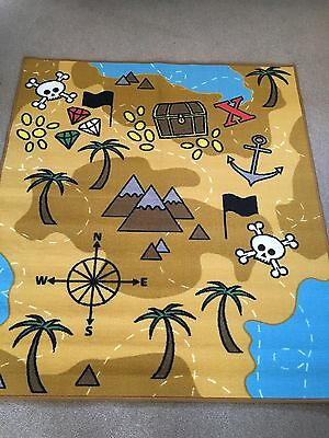 Children's Pirate / Treasure Map. Play Room, Nursery, Bedroom Etc