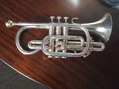 Besson silver Plated Cornet