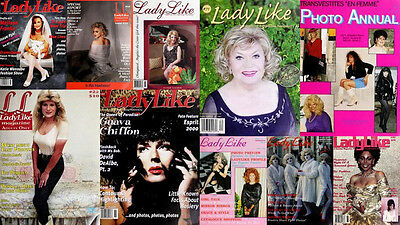 LadyLike Magazine 71 issues in PDF format on CD.  Cross-dress/She-male/Trans/Gay