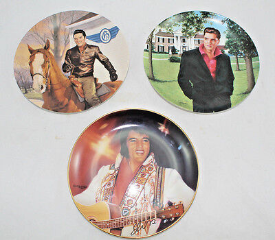 Lot Of 3 Elvis Presley Collector's Plates Delphi Bradford Exchange