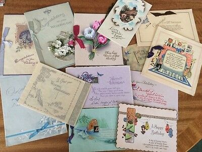 Collection of Ephemera.12 greeting cards.a calendar blotter and sweet letter.30s