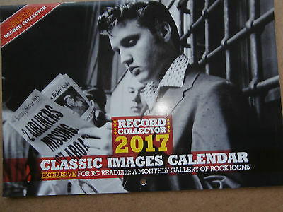 Record Collector - 2017 Classic Images Calendar - Bowie, Elvis, Prince, Sabs etc