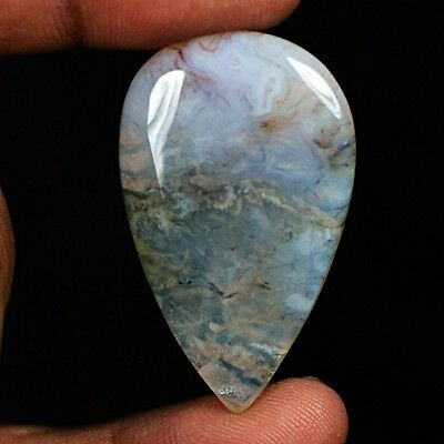 41ct Natural Beautiful Deep Moss Agate Pear Cabochon from Africa YQ53