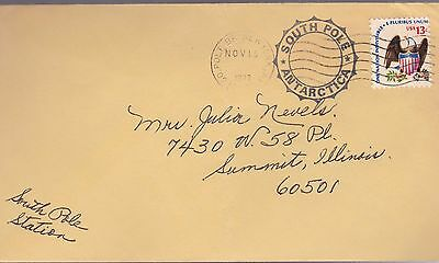 Usa 1977 Special South Pole Post Marks / Antartica Station Research Program
