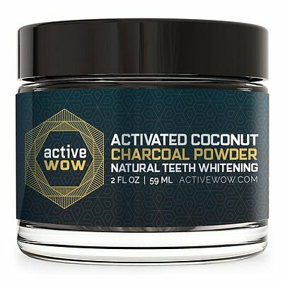 Active Wow Teeth Whitening Charcoal Powder Natural - Zahnweiss