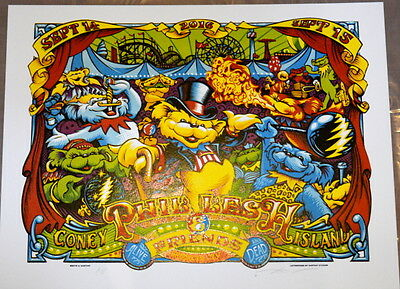 Phil Lesh And Friends - Coney Island - Brooklyn - 2016 - A J Masthay -  Poster