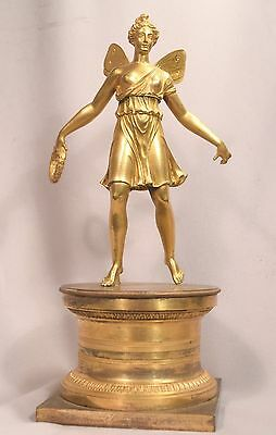 Beautiful Antique French Empire Gilt Bronze Sculpture Psyche
