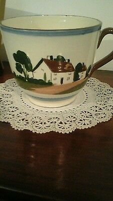 WATCOMBE TORQUAY MOTTO WARE POTTERY LARGE CUP 5.25 INCHES Wide