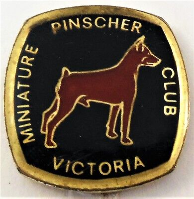 Miniature Pinscher Club of Victoria Australia Dog Show Lapel Pin Tie Tack