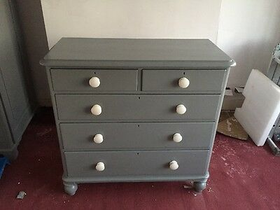 Large Victorian Chest Of Drawers (painted)