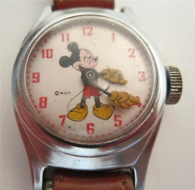 vintage MICKEY MOUSE WRIST WATCH copyright WALT DISNEY PRODUCTIONS
