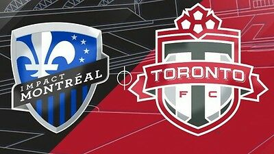 2 Tickets - Toronto FC vs Montreal Impact- Tuesday June 27 @ 7:30pm - Lower Bowl