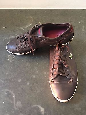 Lacoste Trainers, Brown Leather, UK 9