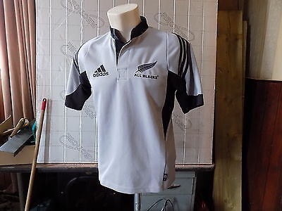 """new zealand all blacks rugby shirt adidas size S pit to pit 21"""""""