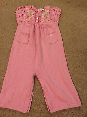 Baby Girls Pink Playsuit Outfit Aged 6-9 Months From Hartstrings
