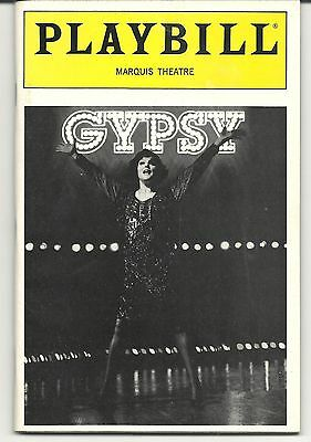 """gypsy"". Broadway Playbill. W/ Tyne Daly @ Marquis Theatre. 5/91. + Crista Moore"