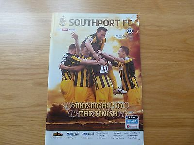 Southport v FC Halifax Town Skrill Premier League Football Programme 2014
