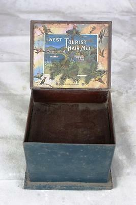 Original West Hair Net Display Box With 2 Drawers And Beautiful Litho Sign Nets!