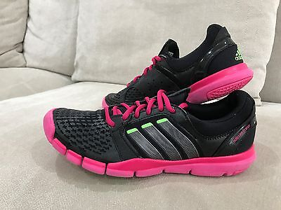 Womens Super Cute Black Pink Adidas Adipure Trainers Runners Sneakers Size 8 US