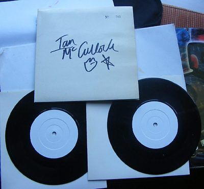 """ECHO AND THE BUNNYMEN-EVERGREEN Signed by IAN McCULLOCH no 785 2x7"""" MINT!"""