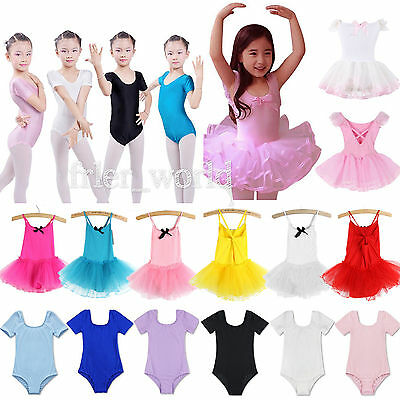 Ballet Tutu Princess Dress Up Dance Wear Costume Leotard Party Girls Toddler Kid