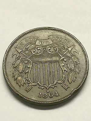 1864 2c Two-Cent Piece XF #2591