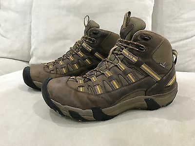 Mens Awesome Brown Keen Hiking Boots Walking Trekking Waterproof Size US 12