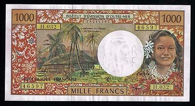 French-Pacific-Territories: Beautiful 1000 Francs.  P-2.