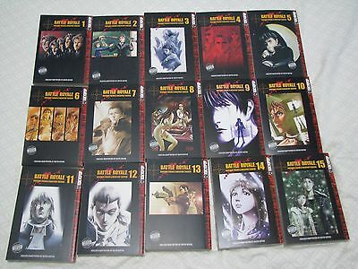 Battle Royale vol # 1 - 15 FULL SET - ENGLISH - Tokyopop - OUT OF PRINT