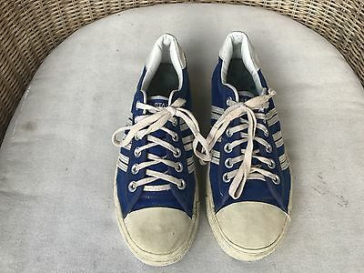 "Vintage Converse All Star Chuck Taylor Low Tops ""BLUE LABEL"" Size 9.5 L@@K"
