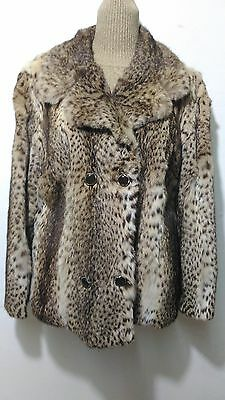 vintage real lynx fox mink fur coat full pelt