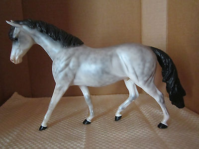 """Peter Stone Horse # 9906 """"Coveted Cookie"""" Dapple Grey English Pony Glossy EXC"""