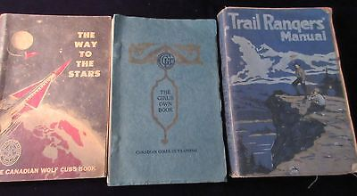 Three Antique & Vintage Cub, Scout & The Girls Own  Books