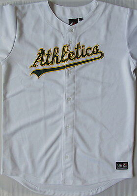 Majestic Athletics Boys 13-15 Yrs Major League Baseball Field Top Rrp£34 F8/2401
