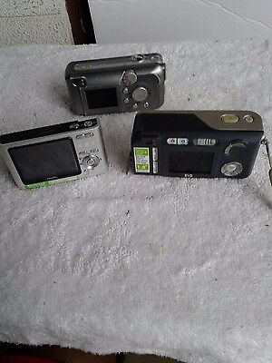 Lot of 3 digital cameras as/is