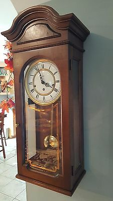 Howard Miller Wall Clock, 612-581 triple chime key wind movement, with key