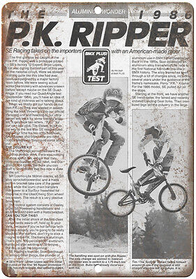 "10"" x 7"" Metal Sign - 1986 P.K. Ripper BMX, GT, Dyno - Vintage Look Reproduction"