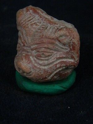 Ancient Teracotta Lion Head Bactrian C.300 BC  No Reserve #TR499