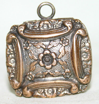 Antique Gilt Metal Vinaigrette  Nice Detail. For restoration