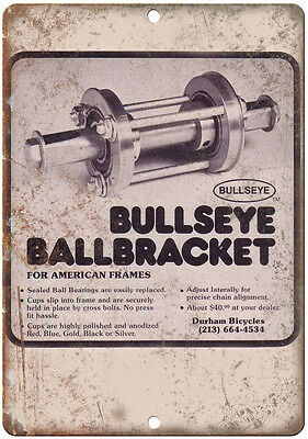 "10"" x 7"" Metal Sign - Bullseye Ballbracket BMX - Vintage Look Reproduction"