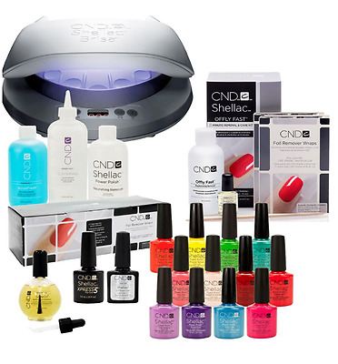 CND Shellac LED Lamp With CND Superior Service Kit The Complete Starter Kit